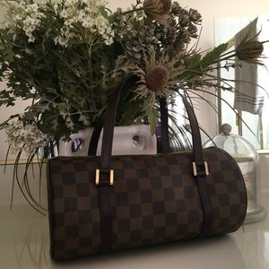 LOUIS VUITTON PAPILLON 26 HAND BAG DAMIER CANVAS
